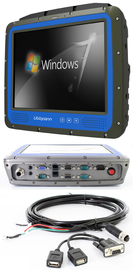 "Ubiqconn VT1020-HRD Rugged IP66 TabletPC (10.4"" 1000nits, Intel Atom Quad-core, 4GB RAM, 64GB SSD, WLAN/BT/GPS/2xCAN-BUS, Defroster)"