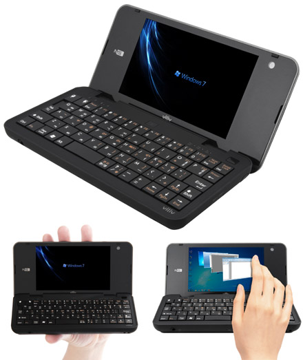 "Viliv N5 Premium 3G (4.8"" Touchscreen, 1.33Ghz, 1GB RAM, 32GB SSD, HSPA/UMTS, WLAN, Bluetooth, GPS, Win7)"