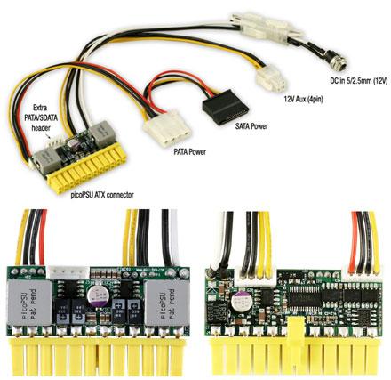 picoPSU-150-XT DC/DC PC ATX power supply (Fanless, 24pol, 150 Watt)